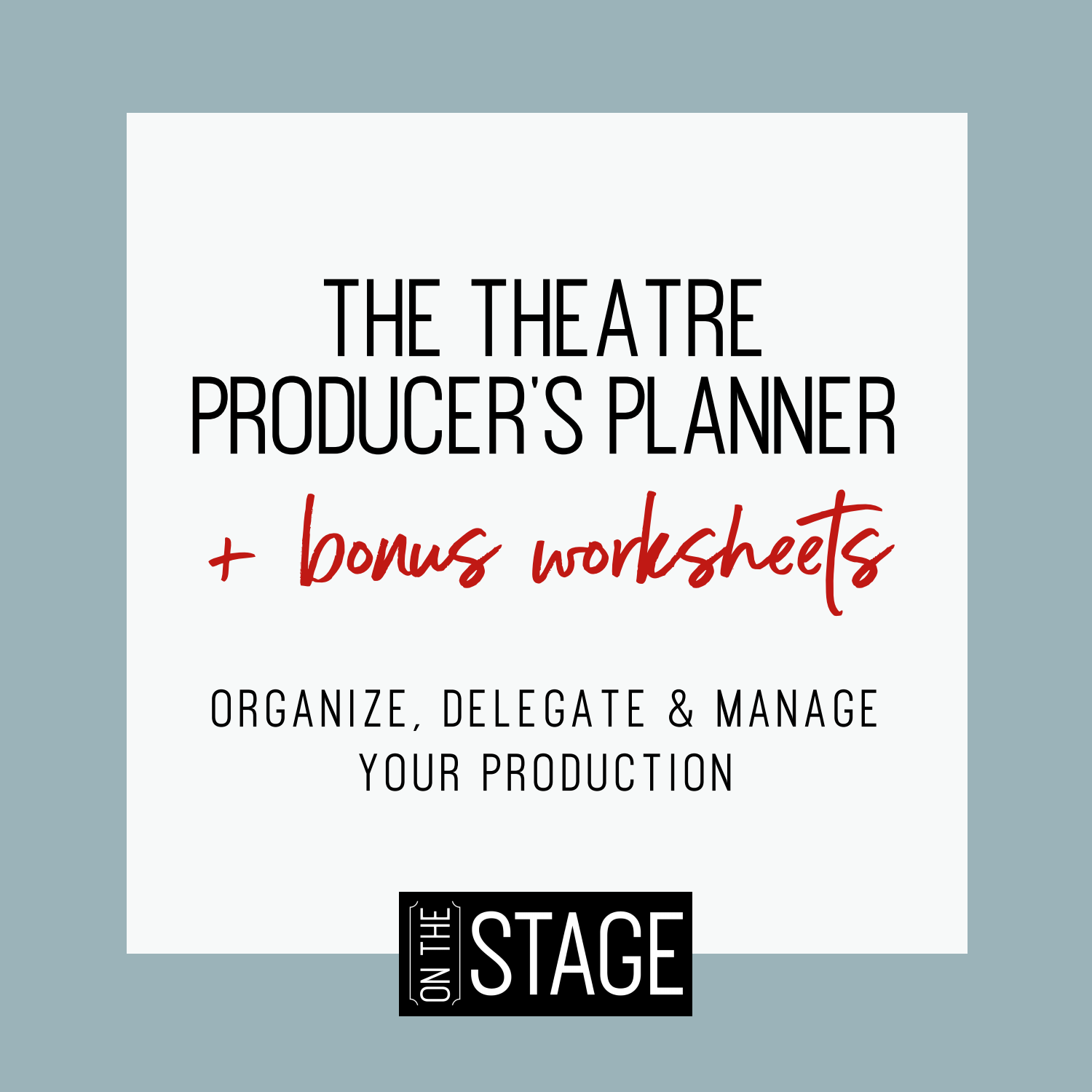 The Theatre Producers Planner | Square cover